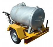 Remorque citerne eau 500 litres - P.T.C 750 kg- Citerne à eau 500 litres en acier galvanisé