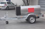 Remorque citerne essence - Capacité réservoir : 350 L - Charge utile : 450 kg
