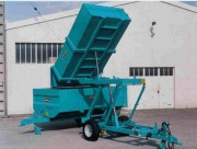 Remorque élévatrice viticole - Charge Utile : 3 000 Kg  -  Freinage : hydraulique + Parking