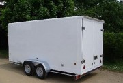 Remorque fermée aluminium - Carrosserie en aluminium - à  double essieux