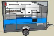 Remorque food truck personnalisable pour pizzeria, rôtisserie, friterie - Food truck pour commerce ambulant homologué