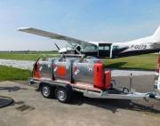 Remorque grv aviation 1350 L - 3 x Réservoirs alu simple paroi, homologué ADR