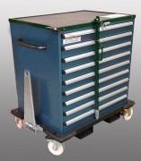 Remorque industrielle de manutention - A 4 roues pivotantes