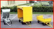 Remorque industrielle sur roues pneumatique - Remorque industrielle sur 1/2 à 2 essieux