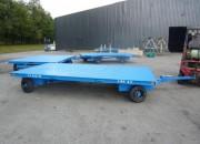 Remorque plateau double essieu capacité 6 tonnes - Dimensions : 6000 x 2400 mm