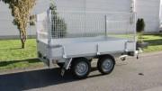 Remorque plateau grillagé - Double essieux - PTAC : 750 kg