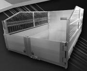 Remorque plateau ridelle - Double essieux - PTAC 1500kg