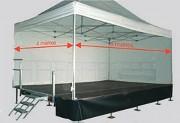 Remorque podium - Dimensions plateau (L × l) m : 6 x 4 - Hauteur : 2.10 à 2.40 m