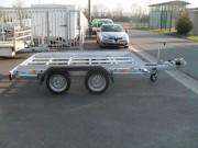 Remorque porte engin châssis nu - Double essieux - PTAC : 2000 kg