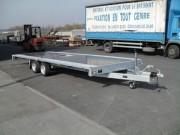 Remorque porte engin grand plateau - Double essieux - PTAC : 3500 kg