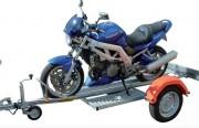 Remorque porte moto à timon droit - PTCA : 499 kg - CU (charge utile) : 409 kg - Essieux : 1