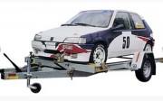 Remorque porte voiture 1 essieu - Capacité : 920 Kg - 2 cales de roues - Basculement hydraulique