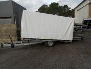 Remorque pour conteneur sur-mesure - PTC : 1100 Kg