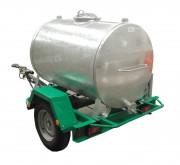 Remorque pour cuve - Capacité : 1000 litres - 1 essieu - PTC : 1250 kg