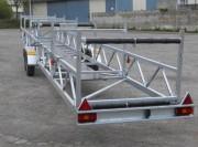 Remorque pour transport dragon boat sur-mesure - À convenir selon demande