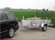 Remorque trampoline élastiques - Hauteur : 6,00 mètres avec base acier zingué