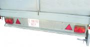 Remorques industrielles avec essieux - Avec ridelles