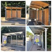 Rénovation mobilier urbain - Peinture bi-composante polyuréthane par procédé électrostatique