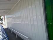Rénovation peinture abri chariots supermarchés - Peinture électrostatique