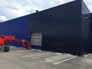 Rénovation peinture bardage - Peinture bi-composante polyuréthane par procédé électrostatique