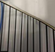 Rénovation peinture garde corps - Peinture bi-composante polyuréthane par procédé électrostatique