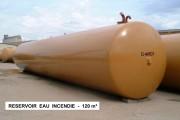 Réserve pour stockage d'eau anti incendie - Volume (m3) : de 30 à 120