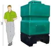 Réservoir de stockage granulés - Volume (L) : 1800