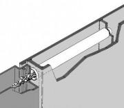Ressort de fermeture sans contre-plaque - Adjunkt Encastré E 22