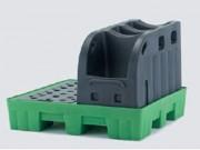 Rétention multi emballage 240 L plus support fût - WSF07