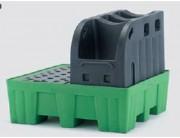 Rétention multi emballage 450 L plus support fût - VSF07