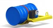 Retourneur de fut plastique ou métallique - Avec une élingue chaîne 2 brins (en option)