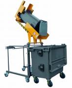 Retourneur videur poubelle - Charge maximale : 80 kg