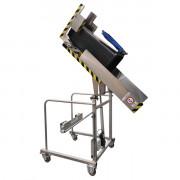 Videur retourneur depoubelle VD135° INOX - Charge maximale : 80 kg