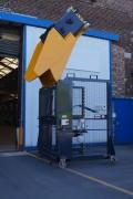 Retourneur videur roulant de poubelle - Pour poubelles 4 roues de : 660 - 770 - 1000 litres