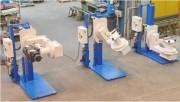 Retourneurs de fours - Rotation et pivotement de l'appareil