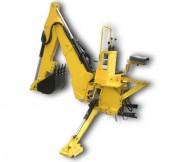 Rétro-pelle petits tracteurs - Portée horizontale maxi de 3 m - Rotation 180°