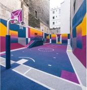 Revêtement de sol amortissant pour salles de sport - Epaisseur : De 8 à 12 mm - Activités intérieures et extérieures