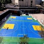 Revêtement de sol basket - Dalles Clipsables - Garantie 15 ans - Fabriqué en Suède