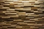 Revêtement mural en bois massif - Parement mural en bois naturel