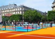 Revêtement sol terrain mini tennis - Dimension d'une dalle : 33x33cm Epaisseur d'une dalle : 1,5 cm