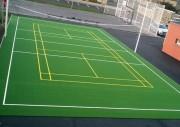 Revêtement terrain multisport - Solution idéale pour toutes vos réhabilitations de courts usagés.