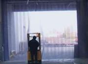 Rideau à lanières en pvc - Lanières sur rouleau  -  Lanières en PVC souple
