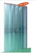 Rideau à lanières PVC souple transparent - Résistance aux températures : -10 à + 160°C / -40 à + 60°C