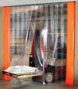 Rideau à lanières souple et thermique - Largeurs de lanières : 200- 300- 400 mm