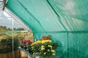 Rideau de soleil pour serre en polycarbonate
