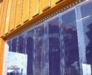 Rideaux à lanières pour portes va-et-vient - Couleur : transparent clair
