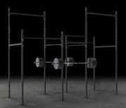 Rig à 2 cages rack pour gymnastique - Exercices en hauteur de type gymnique, barre fixe, anneau