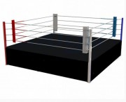 Ring de boxe podium - Ring de compétition : 5.5 m - Intérieur : 4.88 m