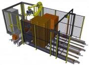 Robot de palettisation mono ligne - Alimentation électrique : 400V triphasé - 20 Ampères
