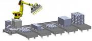 Robot de palettisation sur rail - Flexibilité d'implantation accrue